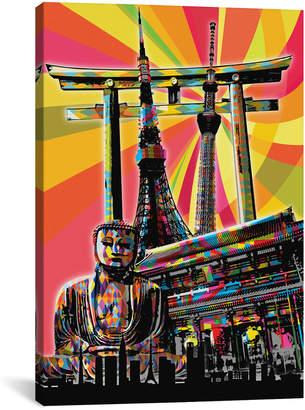iCanvas Icanvasart Tokyo Psychedelic Pop By 5By5collective Canvas Artwork