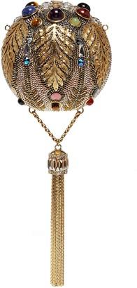 Judith Leiber 'Pax Sphere' crystal tassel clutch