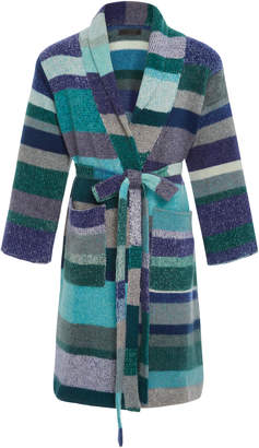 The Elder Statesman Striped Cashmere Robe