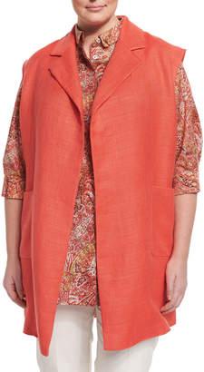 Marina Rinaldi Grano Woven Vest, Plus Size