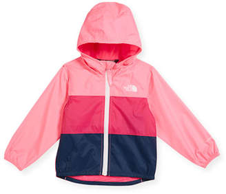 The North Face Flurry Tricolor Wind Jacket, Pink, Size 2-4
