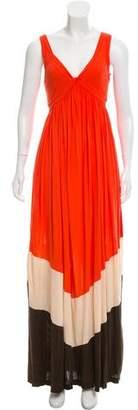 Diane von Furstenberg V-Neck Maxi Dress