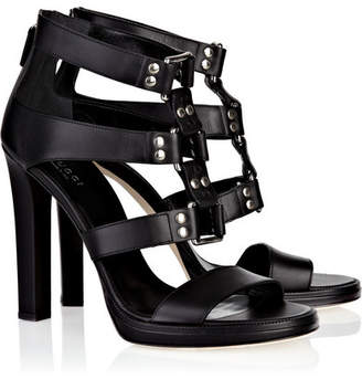 3b32f0969a8 Gucci Studded Leather Sandals - Black