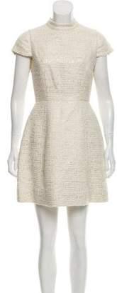 Alice + Olivia Metallic Tweed Mini Dress