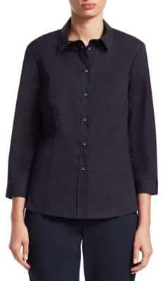Carolina Herrera Poplin Button-Front Shirt