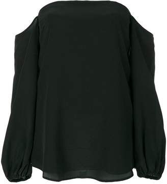 Theory cold shoulder blouse