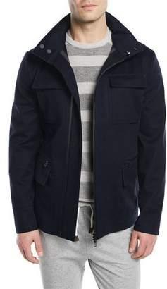 Loro Piana Shieldly Twill Field Jacket with Pack-Away Hood