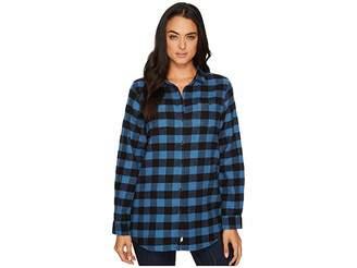 Woolrich Buffalo Check Boyfriend Shirt Women's Long Sleeve Button Up
