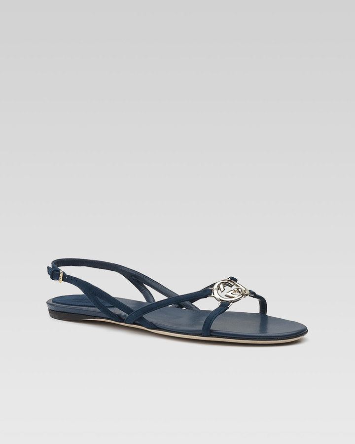 Gucci Britt Flat Slingback Sandal