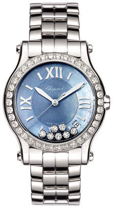 Chopard 36mm Limited Edition Happy Sport Automatic Bracelet Watch with Diamonds