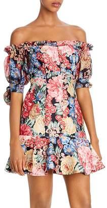 Keepsake Runaway Floral Off-the-Shoulder Dress