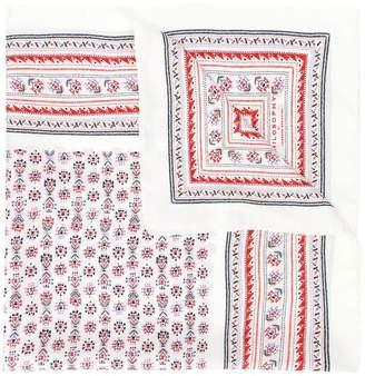 Philosophy di Lorenzo Serafini geometric embroidered scarf