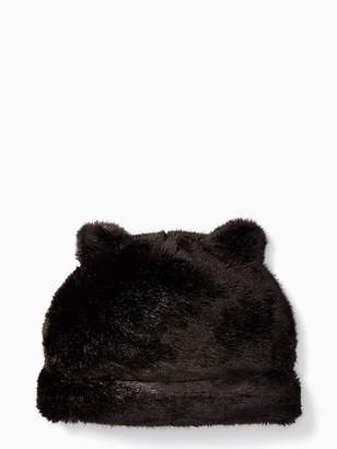 Kate Spade Faux mink hat with ears