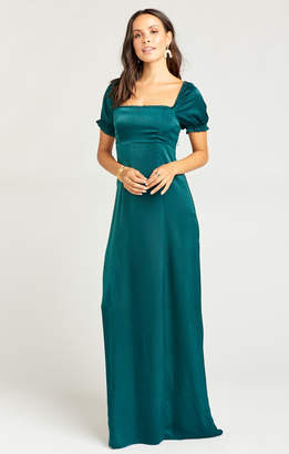 Show Me Your Mumu Brittany Maxi Dress ~ Dark Emerald Sheen