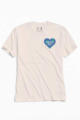 Urban Outfitters Community Cares + Hurricane Relief Puerto Rico Heart Tee