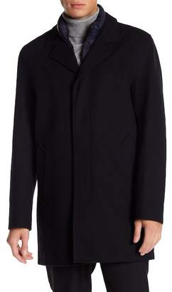 Cole Haan Waterproof Wool Blend Topper Coat