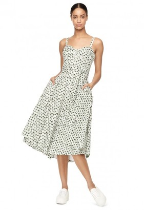 Bambino Palm Print Bustier Midi Dress $695 thestylecure.com