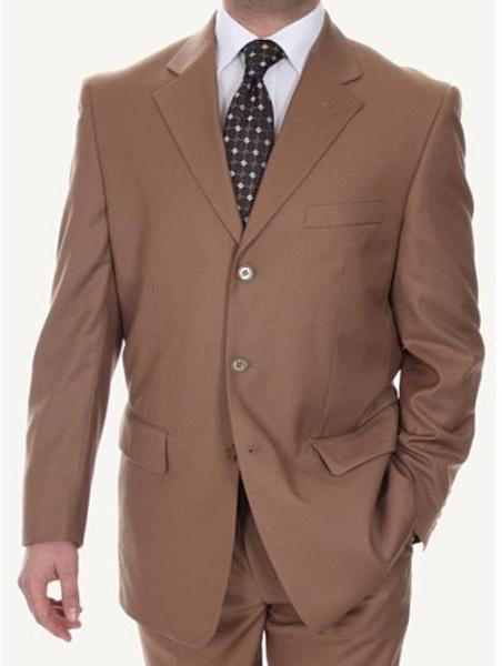 Ferrecci Men's Taupe 2-piece Suit