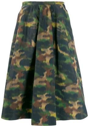 Rochas camouflage print skirt
