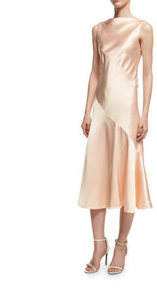 Calvin Klein Satin Bias-Cut Midi Dress