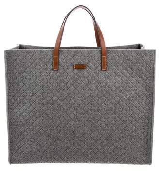 Gucci Leather-Trimmed Felt Tote w/ Tags