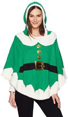 Blizzard Bay Women's Elf Poncho W/Hood and Bells