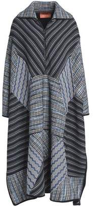 Missoni Patchwork-Effect Crochet-Knit Wool-Blend Coat