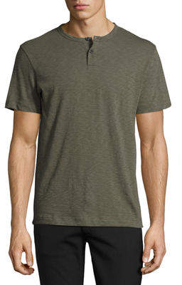Theory Gaskell Nebulous Short-Sleeve Henley T-Shirt