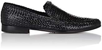 Barneys New York Men's Woven Leather Venetian Loafers