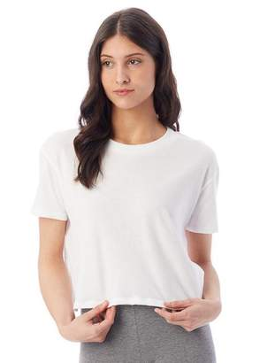 Alternative Apparel Headliner vintage jersey cropped t-shirt White