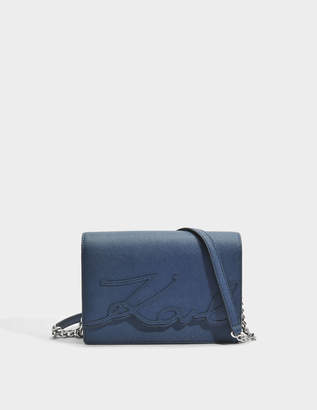 K/Signature Essential Shoulder Bag in Deep Petrol Saffiano Karl Lagerfeld Sale Limited Edition qlFjm2Da4