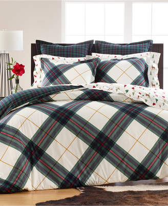 Martha Stewart Collection Winter Plaid Flannel Twin Duvet Cover