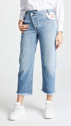Monse Leather Pocket Jeans