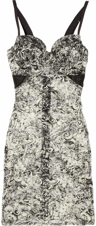 The Lake & Stars Deal Toy printed lace balconette chemise