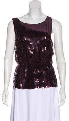 Alice + Olivia Sequin Sleeveless Top