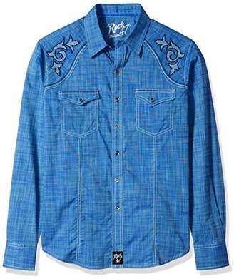 Wrangler Men's Rock 47 Two Pocket Long Sleeve Snap Shirt