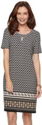Dana Buchman Women's Print Keyhole Sheath Dress