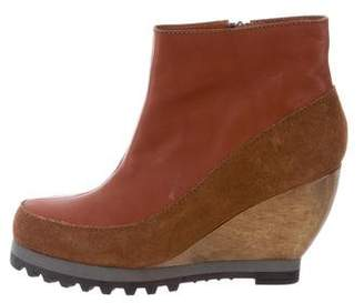 Rachel Comey Leather Wedge Boots