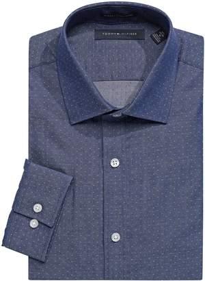 Tommy Hilfiger Slim-Fit Printed Dress Shirt