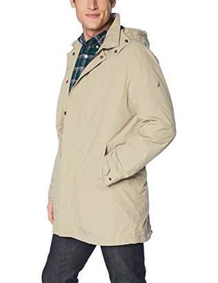 Nautica Men's Zip Front Lightweight Rainbreaker Jacket Coat
