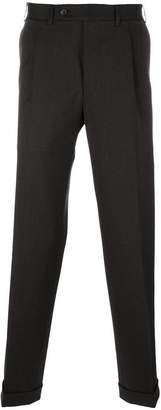 Canali pleated tapered trousers