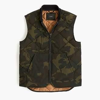 J.Crew Nordic down vest in camo with eco-friendly Primaloft®