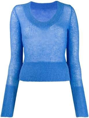 Jacquemus La maille Dao U-neck knitter sweater