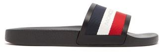 Moncler New Basile Striped Slides - Mens - Black Multi
