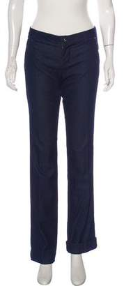 Blumarine Mid-Rise Straight Leg Jeans