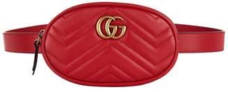 Gucci Leather Marmont Matelassé Belt Bag