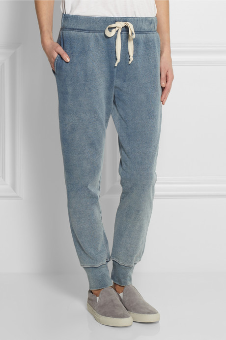 Current/Elliott Faded cotton-jersey track pants