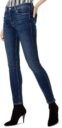 Karen Millen High-Rise Skinny Jeans in Denim