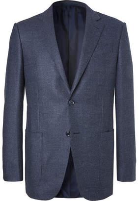 Ermenegildo Zegna Blue Slim-Fit Milano Easy Birdseye Wool Blazer