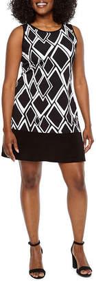Ronni Nicole Sleeveless Diamond Shift Dress-Petite